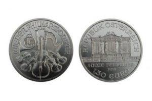 Wiener Philharmoniker zilveren munt, voorzijde / achterzijde
